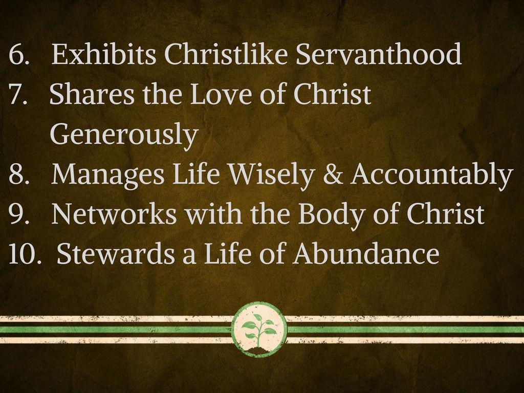 Characteristics of a disciple 6-10