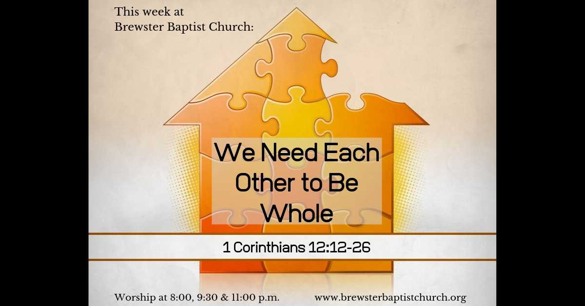 photo relating to Printable Spiritual Gifts Test Baptist named We Want Each individual Other in the direction of Be Entire - Brewster Baptist Church